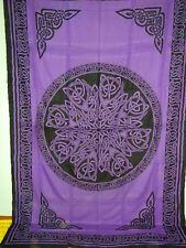 CELTIC Knot MANDALA Purple Hippie Wicca Altar Cloth TAPESTRY Wall Hang Bedspread