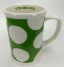 Starbucks Coffee Mug Cup Green Dimple Golf Balls 2007 16 oz