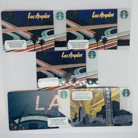 Lot Of 5 Starbucks Los Angeles LA Gift Cards No Value New