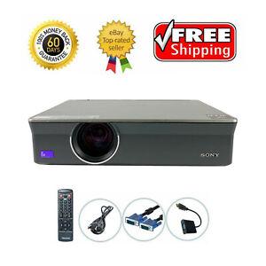 Sony VPL-CX155 3LCD Projector 3500 Lumens HDMI w/adapter TeKswamp