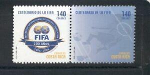 Costa Rica #582 (2004 FIFA Soccer Pair) VFMNH  CV $9.00