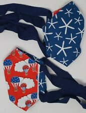 Medium size red, white, & blue starfish/hot air balloons reversible mask