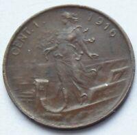 1916 Italy 1 CENT high grade coin