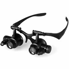 10X 15X 20X 25X Headband Magnifier Watch Repair Headlamp Magnifying Glass Loupe