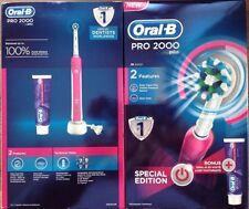 ORAL B PRO 2000 Brosse à dents électrique rose édition limitée avec 75ml