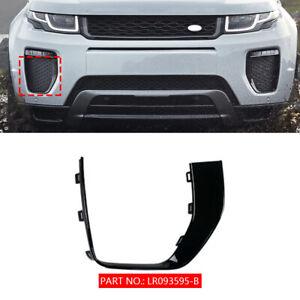 1P RH Black Front Fog Driving Light Cover Grille For 2016-19 Range Rover Evoque