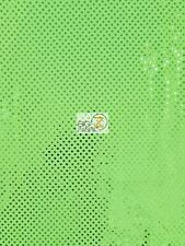 """SMALL DOT CONFETTI SEQUIN FABRIC - Neon Green - SOLD BTY 44""""/45"""" POLKA DOT"""