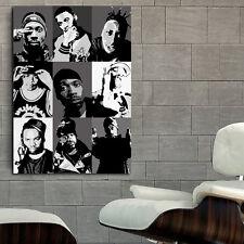 Poster Mural Wu Tang Rap Hip Hop Musician 40x57 inch (100x142 cm) Adhesive Vinyl