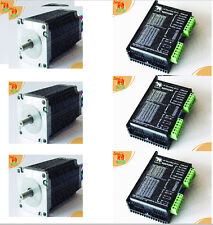 【Top Rated】3Axis Nema23 stepper motor/Schrittmotor 425oz,4.2A & 3 PCC Drivers