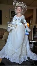 """Treasures Forever 27"""" Collectable Porcelain Bridal Doll, Nora Lenore NWOB"""