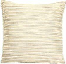 Beige Stripe Cushion Cover Throw Pillow Case Natural Woven Silk Fabric Square