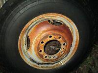 8 lug 16.5 x 6.75 RIM dexter hub pilot used wheel dual tandem trailer lowboy