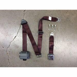3Pt Burgundy Retractable Seat Belt Airplane Buckle - Each bbc apu jr dragster V8