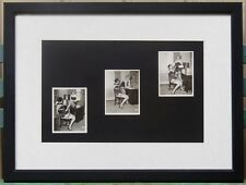 PROVOCATIVE TRIPTYCH FINE ART PHOTOGRAPHY FEMALE BONDAGE 1950's  FRAMED EROTICA