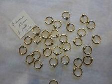 LOT DE 30 gros anneau en métal doré apprêt création bijou avec perle en laiton