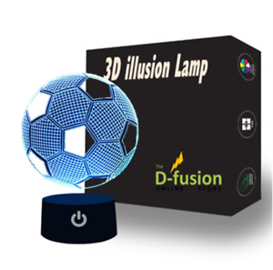 3D Optical Football Illusion Lamp Night Light LED Kids Mood Light Bedside