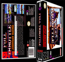 Full Throttle All American Racing - SNES Reproduction Art Case/Box No Game.