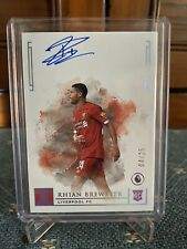 Panini Impeccable Soccer 19-20 Rhian Brewster Liverpool Rookie Autograph 04/25