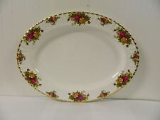 """Royal Albert Old Country Roses Bone China 16 """" Oval Serving Platter"""