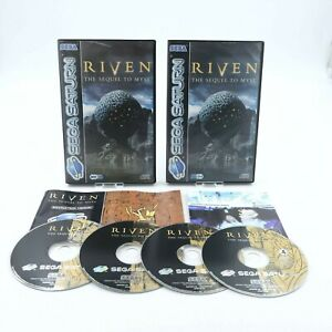 Riven The Sequel to Myst for Sega Saturn Including Cases & Manual