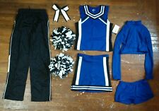 Authentic Complete Real Chasse Black White Blue Cheer Cheerleading Uniform