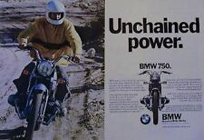 BMW 750 Unchained Power Motorcycle COLOR Ad 1971
