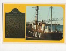 Lightship Huron Michigan USA Old Postcard 369a ^