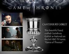 CANTERBURY WINE GOBLET HALLMARKED PEWTER Game of Thrones British Made NEW