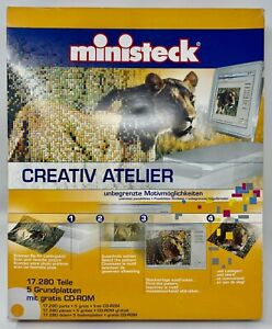 Ministeck Creative Atelier German, Pattern Books, CD Rom, Color Tile Pieces