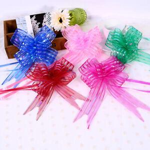 10Pcs Bow Gift Packaging Ribbons Wedding Xmas Birthday Party Christmas Decor 3CM
