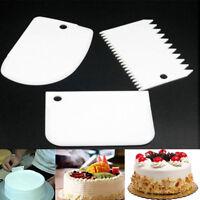 3er-Set Teigspachtel Teigschaber Teigspatel weiß NEU Cutter Küche Kunststoff