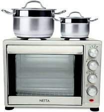 1600W 45L Electric Mini Oven With Hob Hotplate With Timer Grade B Used