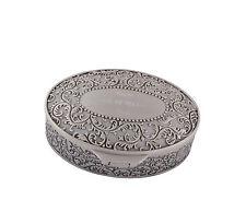 Personalised  Oval Engraved Trinket Jewellery Box Small Keepsake  Wedding Gift