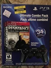 PS3 RESISTANCE Fall of Man & 2 GH Sealed in Controller Bundle box *NEW* *Read