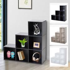 Storage Cabinet Closet Organiser 6 Cubes 3-tier Shelf Home Office