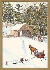 Tasha Tudor Amer Artist Group Caspari NEW Christmas Card MINT Condition as shown