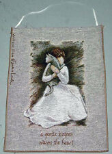 Willow Tree Classic ~ Angel of Kindness w/Cat Tapestry Bannerette Wall Hanging