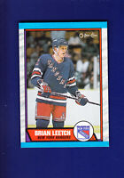 Brian Leetch RC HOF 1989-90 O-PEE-CHEE OPC Hockey #136 (MINT) New York Rangers