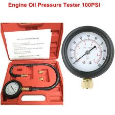 TU-12 Engine Oil Pressure Tester Meter Pressure Gauge Test Tool Kit 100PSI +Case