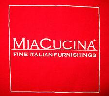 Mia Cucina NEW TEE - Men's Size XL Red - New, FINE ITALIAN FURNISHINGS MiaCUCINA