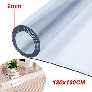 2mm Thick Clear Transparent Vinyl PVC Tablecloth Table Protector Plastic Cover