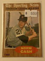 🔥 1962 TOPPS Baseball Card Set #466🔥 DETROIT TIGERS 🔥 HOF ALL-STAR NORM CASH