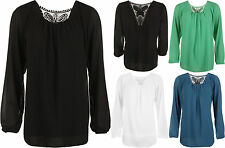 Viscose Party Long Sleeve Plus Size Tops & Shirts for Women