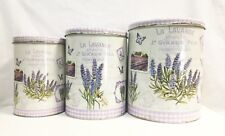Lavender Tin Canister (Set Of Three Round)
