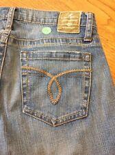 Z Cavaricci floral beaded women s denim blue jeans size 4 #24