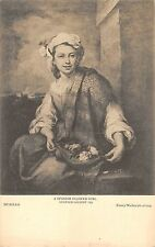 B98228 murillo s spanish flower girl dulwich painting postcard london uk