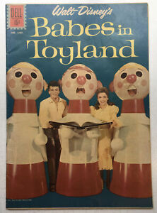 Four Color #1282 Disney's Babes in Toyland Photo Cover Dell Comics 1962 FN- 5.5