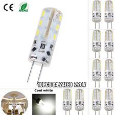 10PCS G4 luci 24 LED 3014 SMD capsula Bulbi lampade a luce FREDDA bianca AC 220V