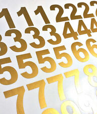 Lot of 40 Metallic Gold Color,Mailbox Numbers Decal, Stickers,[Arial Bold]