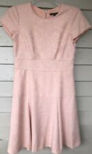 NANETTE LEPORE Dress Size 6 Peach Textured Short Sleeve